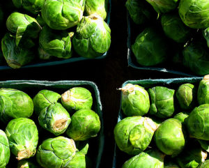 image of maple-glazed brussels sprouts