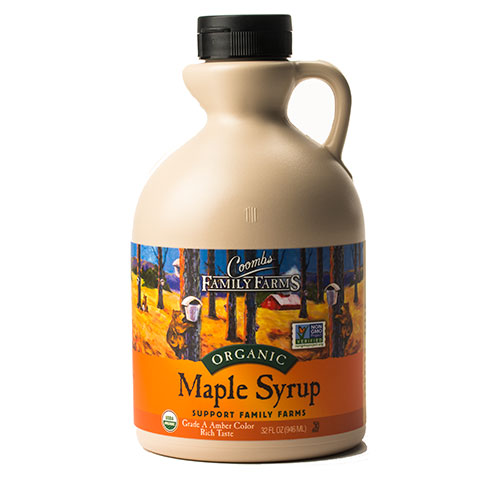 Organic Grade A Amber Color Rich Taste Maple Syrup, 32 oz.