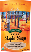 Pure organic maple sugar: nature's original sweetener.