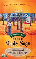 Pure organic maple sugar: nature's original sweetener.