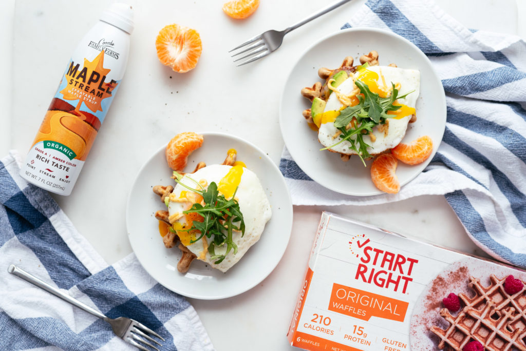 OPEN-FACED MAPLE SAUSAGE BREAKFAST SANDOS WITH SPICY